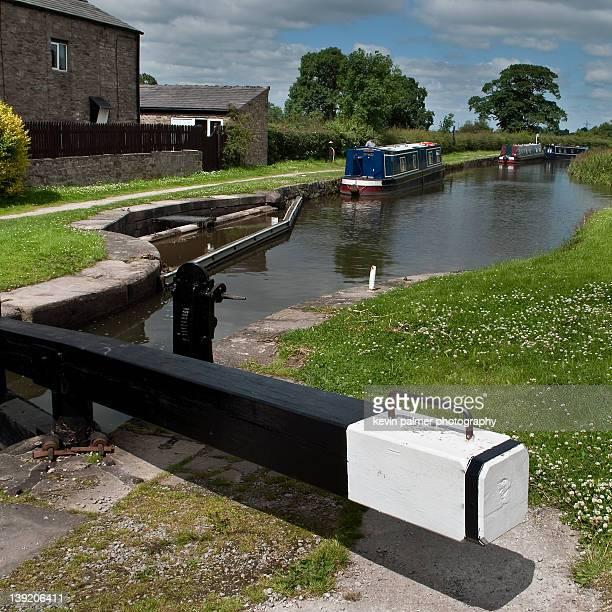 Narrow boats on canal