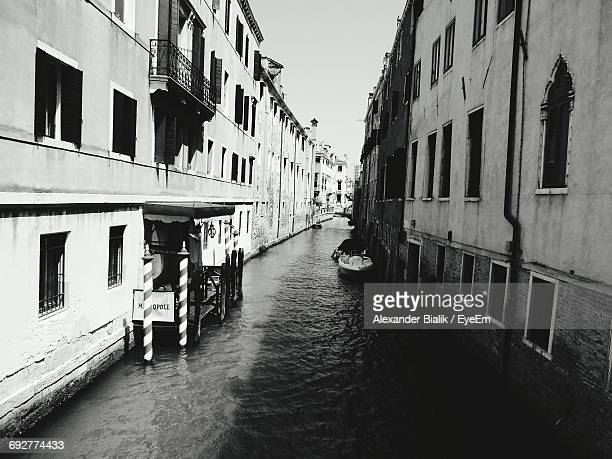 Narrow Canal Along Buildings