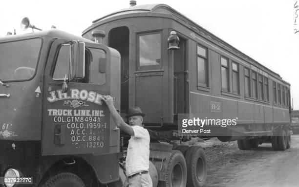 Narrow Gauge Car was hauled to Denver by Trucker Gene Davenport It will be refurbished by Rio Grande Railroad for charter on DurangoSilverton line...