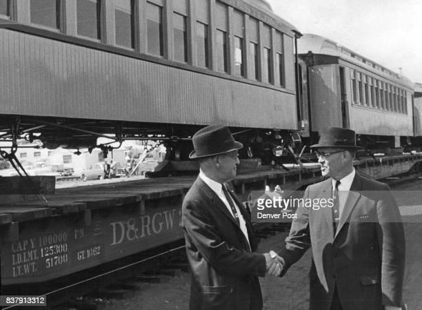 Narrow Gauge Passenger Coaches start Journey from Denver to New 'Rio GrandeLand' Assignment Harold Eno Rio Grande passenger agent and O D Bensori...