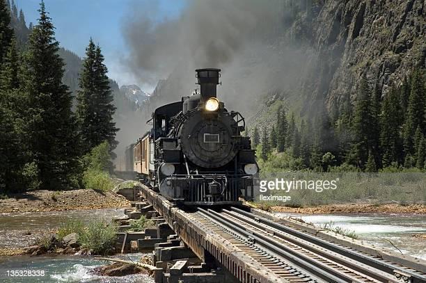 Narrow Gauge Train River Crossing