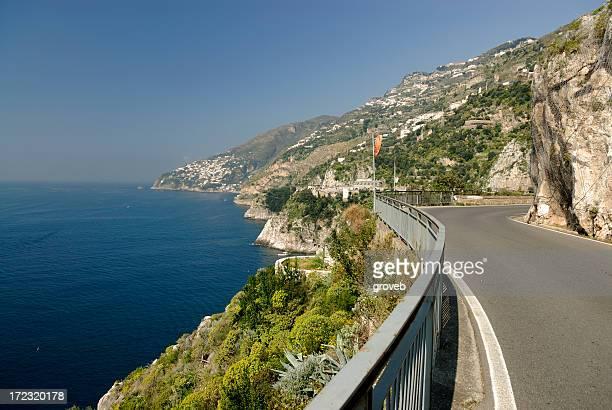 Narrow highway on the Amalfi coast
