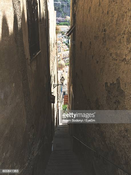 Narrow Staircase Amidst Buildings