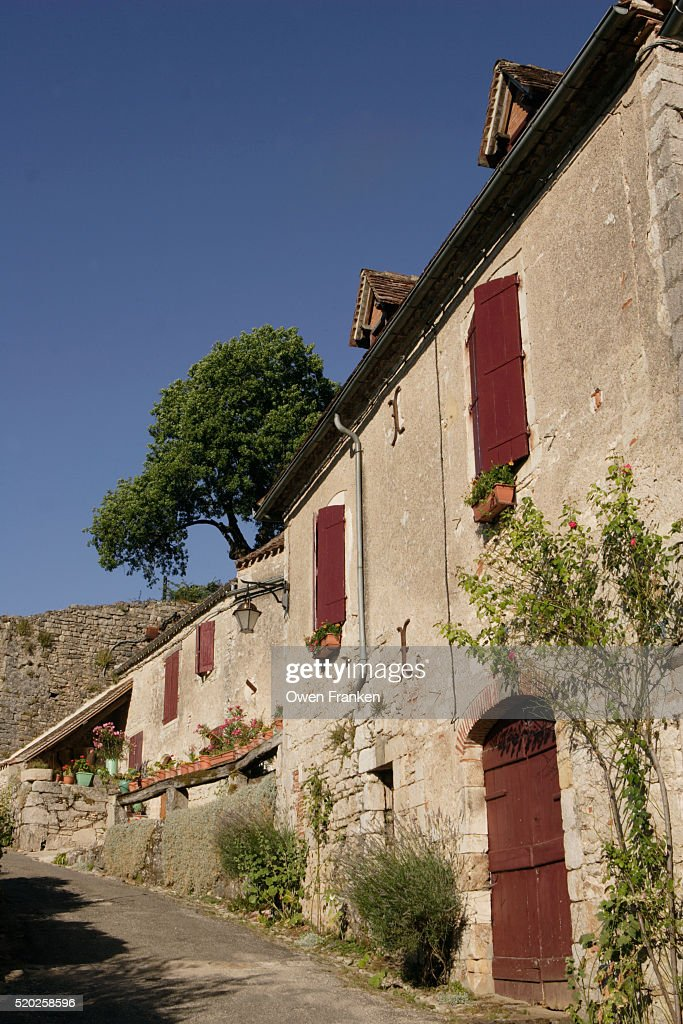 Narrow Street and House in the Village of St.-Cirq-Lapopie