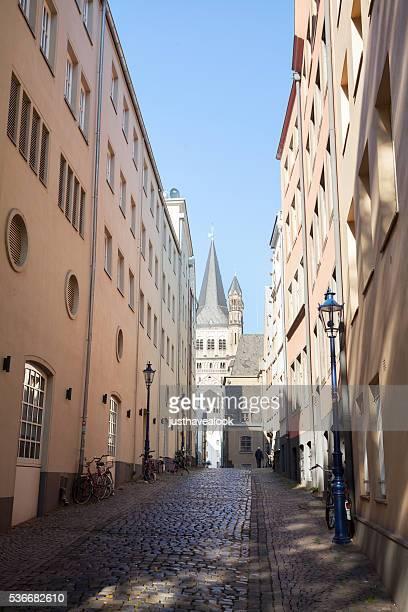 Schmale Straße Auf Dem Rothenberg in Köln
