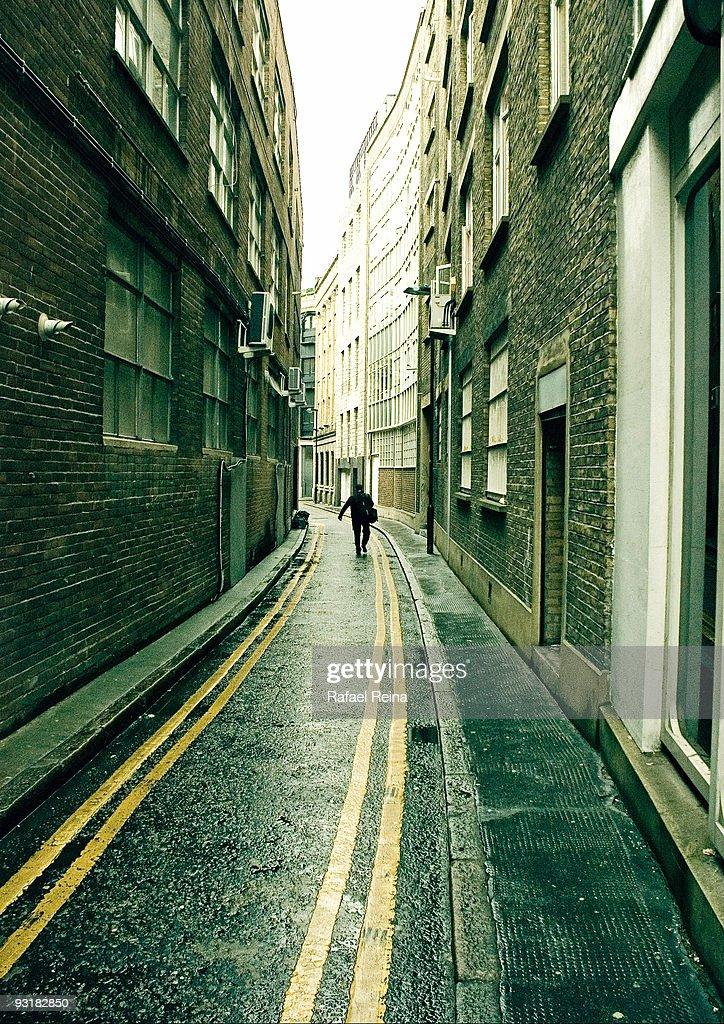 narrow  street in East London : Stock Photo