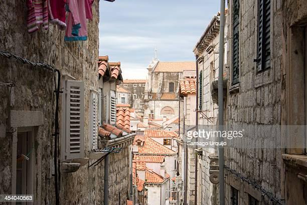 Narrow street in old city of Dubrovnik