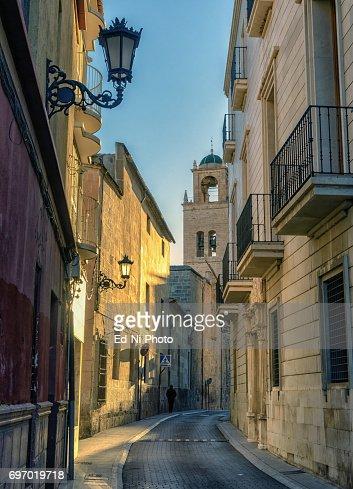 Narrow street in Orihuela, Southern Spain : Foto stock