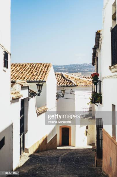 Narrow Street, Ronda, Andalucia, Spain