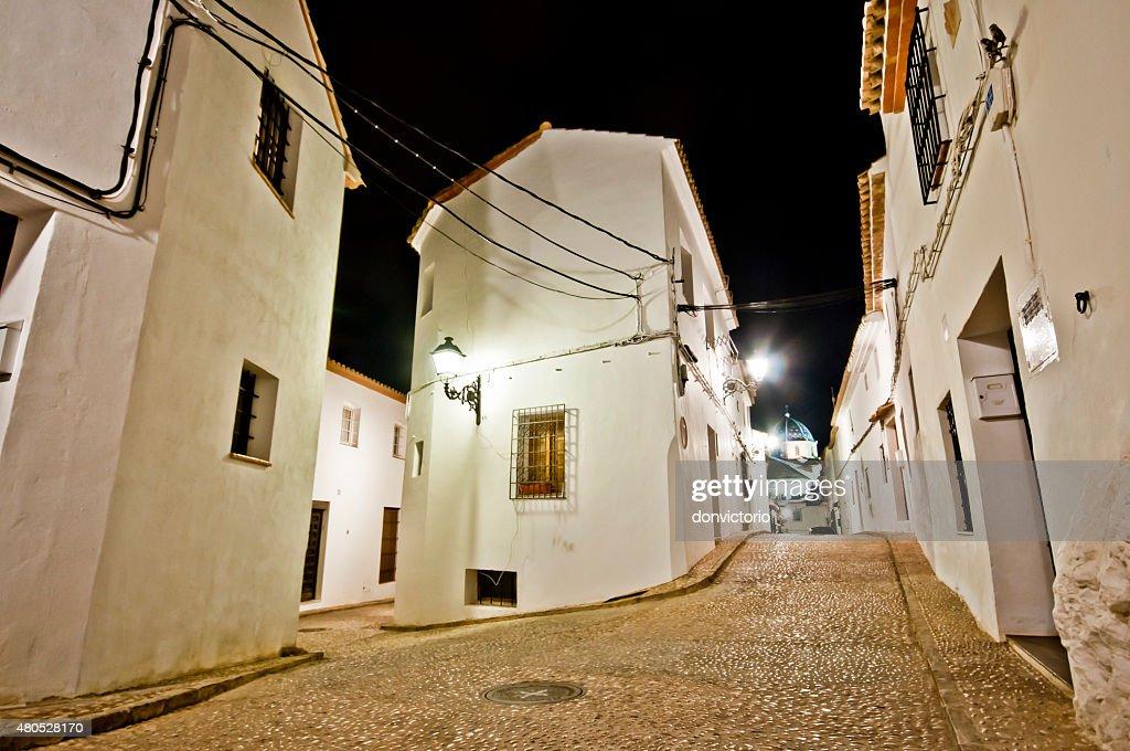 Engen Straßen von kleinen Spanish town Altea, Costa Blanca, Spanien : Stock-Foto