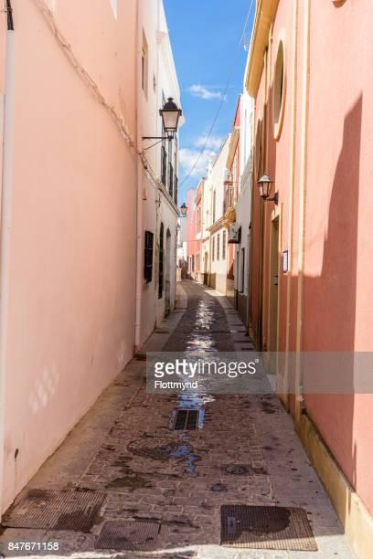 Narrow winding streets in Isla Cristina