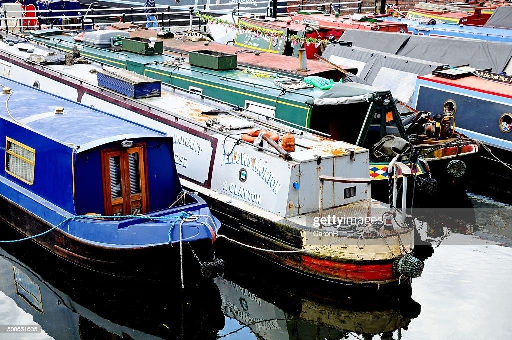 Narrowboats in Gas Street Basin. : Stock Photo
