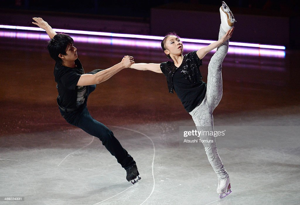 <a gi-track='captionPersonalityLinkClicked' href=/galleries/search?phrase=Narumi+Takahashi&family=editorial&specificpeople=5812360 ng-click='$event.stopPropagation()'>Narumi Takahashi</a> and Ryuichi Kihara of Japan perform their routine in the Gala exhibition during All Japan Figure Skating Championships at Saitama Super Arena on December 24, 2013 in Saitama, Japan.