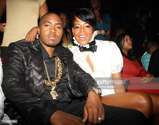 Nas and Kelis during 6th Annual BET Awards Inside at Shrine Audatorium in Hollywood California United States