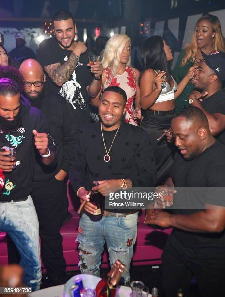Nas attends a party at Gold Room on October 9 2017 in Atlanta Georgia