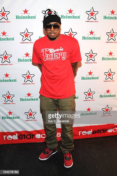 Nas attends Heineken Red Star Access Philadelphia featuring Nas Wale and QTip at The Electric Factory on October 13 2012 in Philadelphia Pennsylvania
