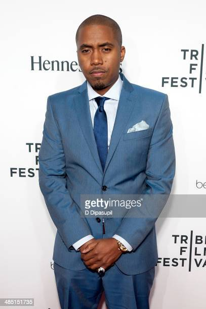 Nas attends the 2014 Tribeca Film Festival Opening Night Premiere of 'Time Is Illmatic' at The Beacon Theatre on April 16 2014 in New York City