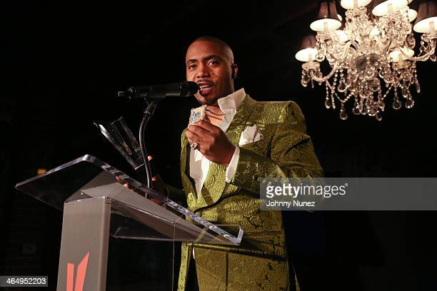 Nas attends Vibe Magazine's 2nd Annual PreGRAMMY Impact Awards at The Carondelet House on January 24 2014 in Los Angeles California