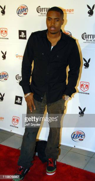 Nas during Playboy's 8th Annual Super Saturday Night at American Airlines Arena in Miami Florida United States