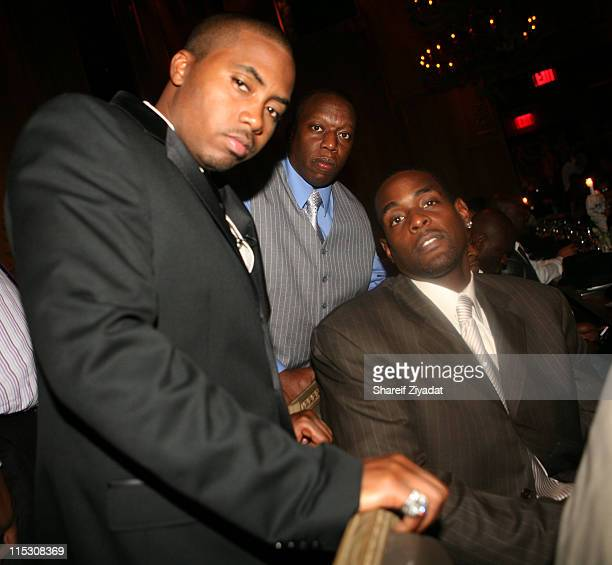 Nas Hassan and Chris Webber during Kelis Birthday Dinner at Buddakan in New York United States