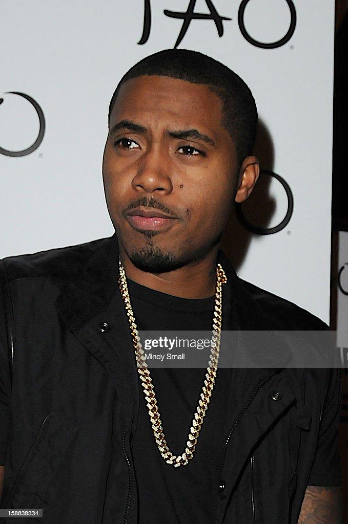 Nas kicks off New Year's Eve Weekend at Tao Nightclub on December 28, 2012 in Las Vegas, Nevada.