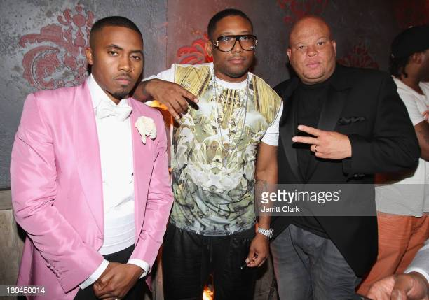 Nas Maino and Shawn Pecas attend Nas 40th Birthday Celebration Dinner And Party at Avenue NYC on September 12 2013 in New York City