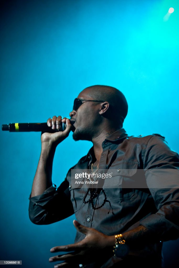 Nas performs at 'Rock The Bells' at the San Manuel Amphitheater on August 8 2009 in San Bernardino California