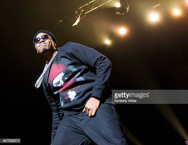 Nas performs during the Nas Time is Illmatic Screening And Live Performance In Oakland at The Fox Theater on October 19 2014 in Oakland California