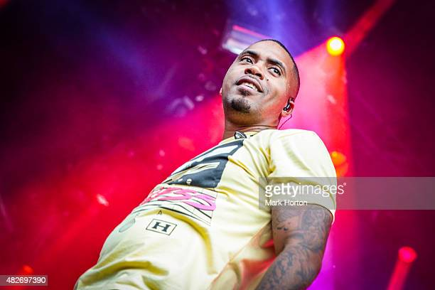 Nas performs on Day 2 of the Osheaga Music and Art Festival on August 1 2015 in Montreal Canada
