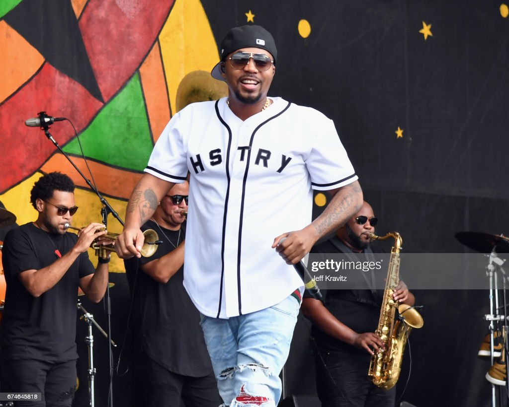 Nas performs onstage during day 1 of the 2017 New Orleans Jazz & Heritage Festival at Fair Grounds Race Course on April 28, 2017 in New Orleans, Louisiana.