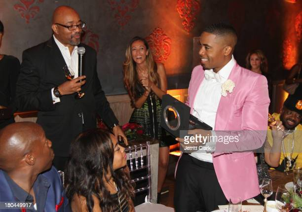 Nas receives a Hublot Classic Fusion watch at his 40th Birthday Celebration Dinner And Party at Avenue NYC on September 12 2013 in New York City