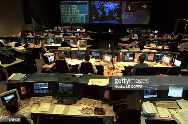 training of MTognini In Houston United States In October 1998 Houston space center control room