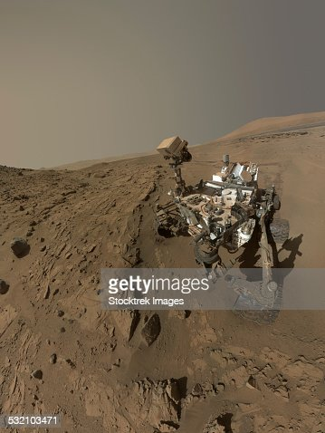 Nasas Curiosity Mars Rover On Planet Mars Stock Photo ...