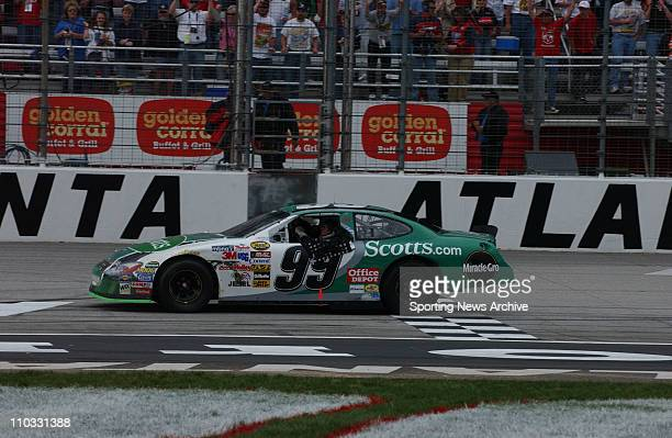 Nascar Carl Edwards during NEXTEL cup Golden Corral 500 on March 202005 at Atlanta Motor Speedway in Atlanta Ga Carl Edwards won the race