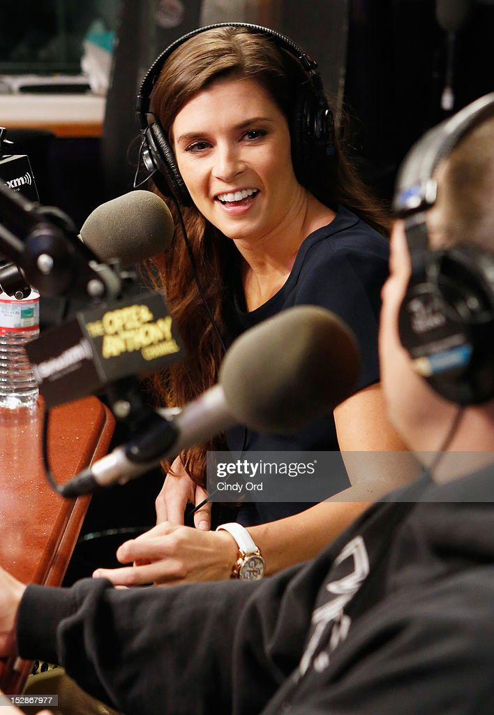 Nascar driver Danica Patrick visits 'The Opie & Anthony Show' at the SiriusXM Studio on September 27, 2012 in New York City.