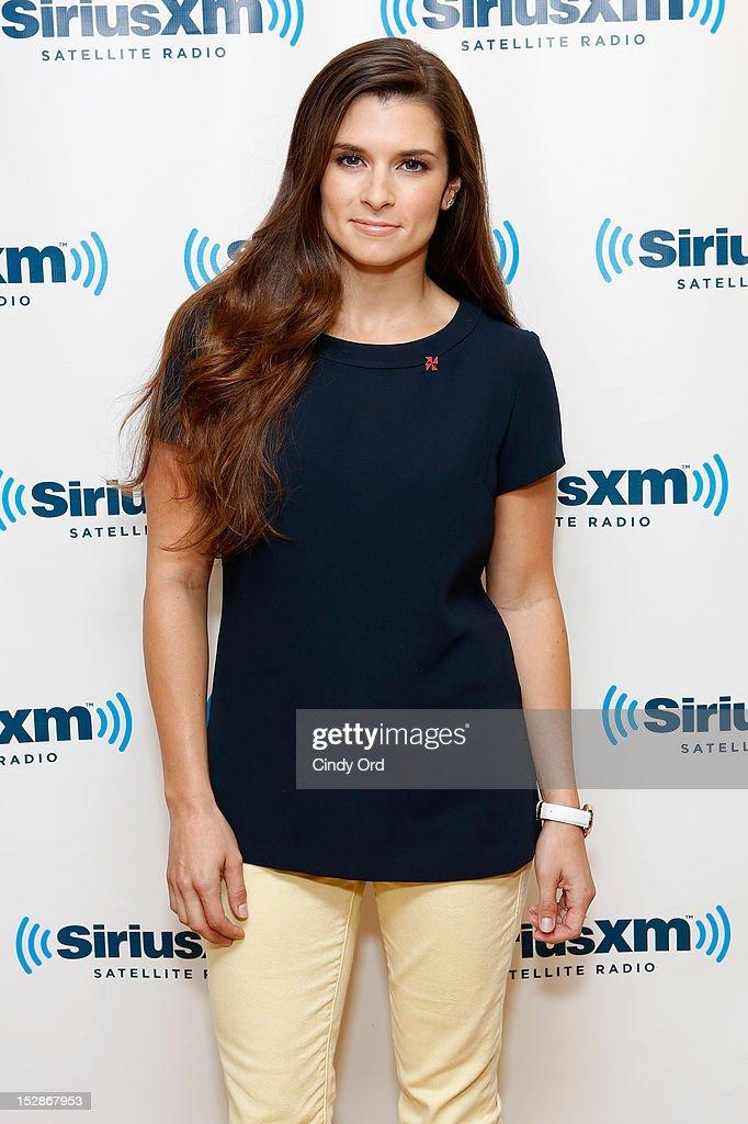 Nascar driver Danica Patrick visits the SiriusXM Studio on September 27, 2012 in New York City.