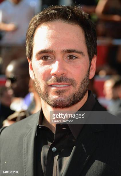 Nascar driver Jimmie Johnson arrives at the 2012 ESPY Awards at Nokia Theatre LA Live on July 11 2012 in Los Angeles California