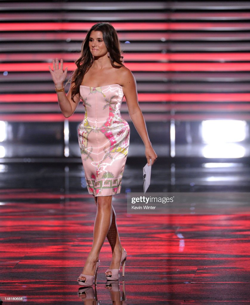 Nascar racer Danica Patrick walks onstage during the 2012 ESPY Awards at Nokia Theatre L.A. Live on July 11, 2012 in Los Angeles, California.