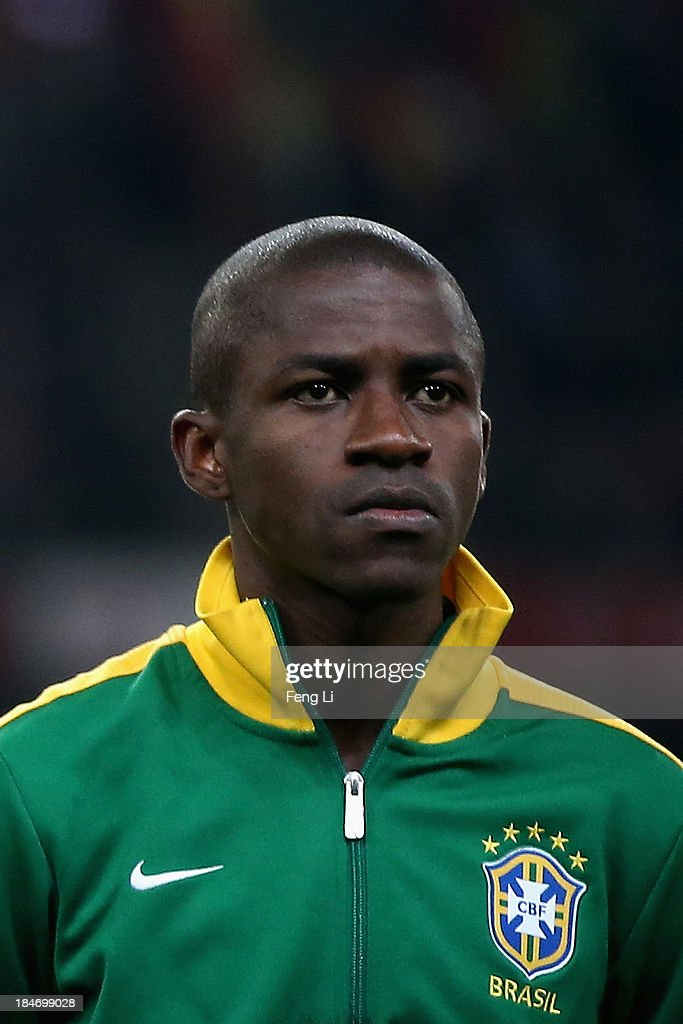 Nascimento Ramires of Brazil poses during the international friendly match between Brazil and Zambia at Beijing National Stadium on October 15, 2013 in Beijing, China.