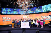 CEO Nasdaq Bob Greifeld Kristina Salen Etsy's CFO Chad Dickerson Chairman and CEO of Etsy along with Etsy Sellers ring the Nasdaq Opening Bell in...