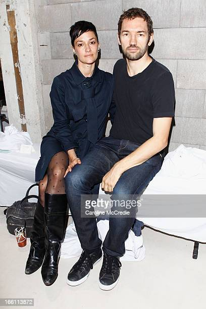Nash Edgerton with partner attend the Ellery show during MercedesBenz Fashion Week Australia Spring/Summer 2013/14 at an offsite venue on April 9...