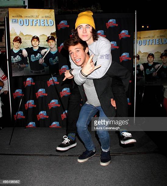 Nash Grier and Cameron Dallas visit Planet Hollywood Times Square on November 3 2015 in New York City