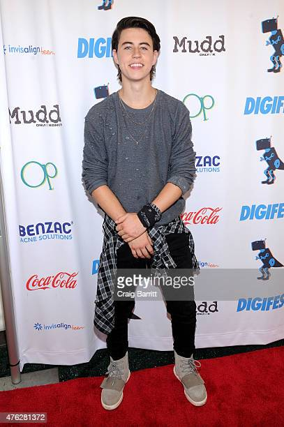 Nash Grier attends Mudd and Op present Digifest at Citifield on June 6 2015 in New York City