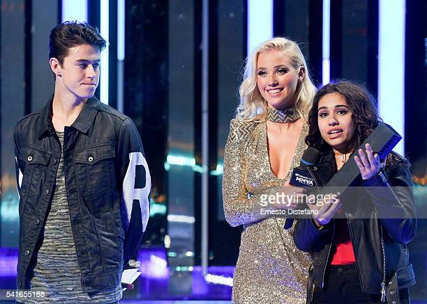 Nash Grier Liz Trinnear and Alessia Cara at the 2016 iHeartRADIO MuchMusic Video Awards at MuchMusic HQ on June 19 2016 in Toronto Canada