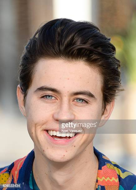 Nash Grier visits 'Extra' at Universal Studios Hollywood on November 29 2016 in Universal City California
