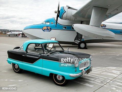 Nash Metropolitan and vintage seaplane