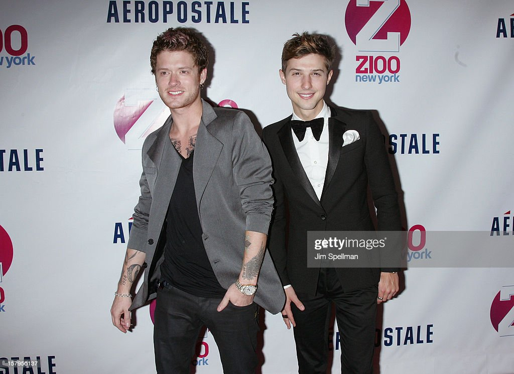 Nash Overstreet and Ryan Follese of Hot Chelle Rae attends Z100's Jingle Ball 2012, presented by Aeropostale, at Madison Square Garden on December 7, 2012 in New York City.
