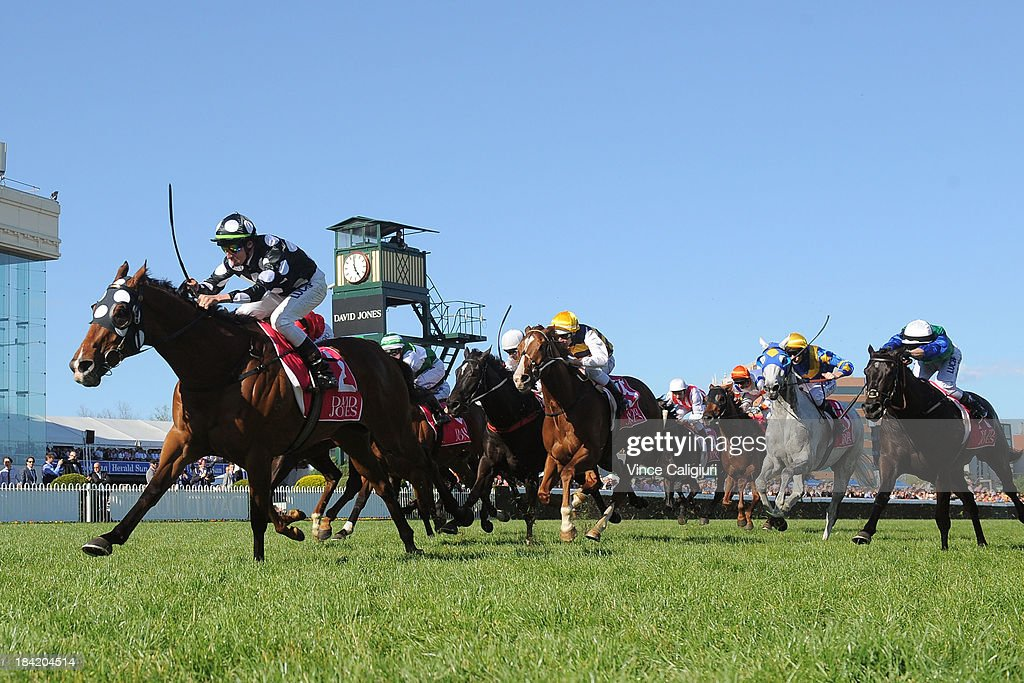 <a gi-track='captionPersonalityLinkClicked' href=/galleries/search?phrase=Nash+Rawiller&family=editorial&specificpeople=223869 ng-click='$event.stopPropagation()'>Nash Rawiller</a> riding Solzhenitsyn wins the David Jones NBCF Toorak Handicap during Melbourne Racing at Caulfield Racecourse on October 12, 2013 in Melbourne, Australia.