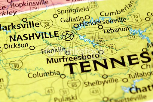 Nashville Area On A Map Stock Photo | Thinkstock