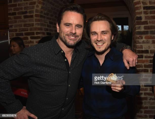 Nashville cast members Charles Esten and Johathan Jackson attend NASHVILLE 100th Episode Celebration on March 16 2017 in Nashville Tennessee